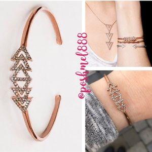 Stella & Dot Delicate Pavé Triangle Cuff Bracelet